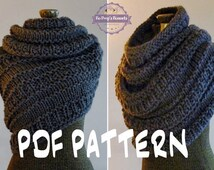 INSTANT DOWNLOAD Knitting PATTERN Huntress Cowl, Cowl Wrap Pattern, Knitted Shawl Vest Pattern, Snood Infinity Scarf Cowl Pattern