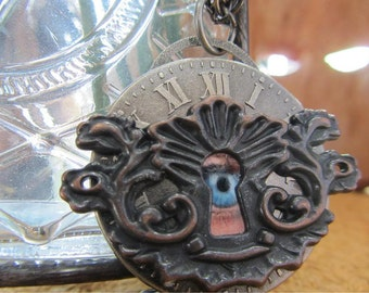 Eye in Keyhole Necklace
