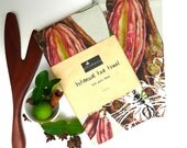 Pure Linen tea towel featuring my botanical art of 'chocolate tree' Theobroma cacao.  Alternative 'chocolate free' gift for Easter!!