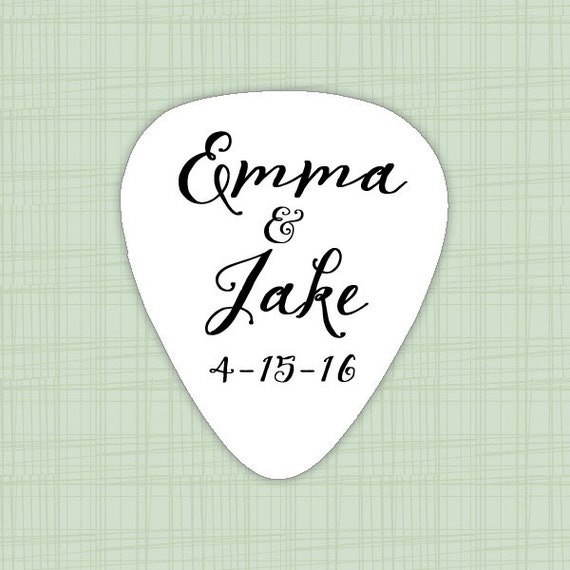 wedding personalized guitar pick favors