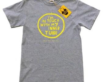 Men's Cycling T-shirt - Funny ZEN CYCLIST - Grey