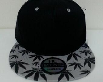 marijuana snapback hat