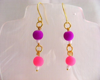 Neon Dangle Earrings
