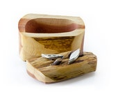 Sterling Silver Canoes on Driftwood Box