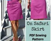 On Safari Skirt  - PDF Sewing  pattern