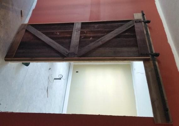 British brace barn door room divider made by for Barn door room divider