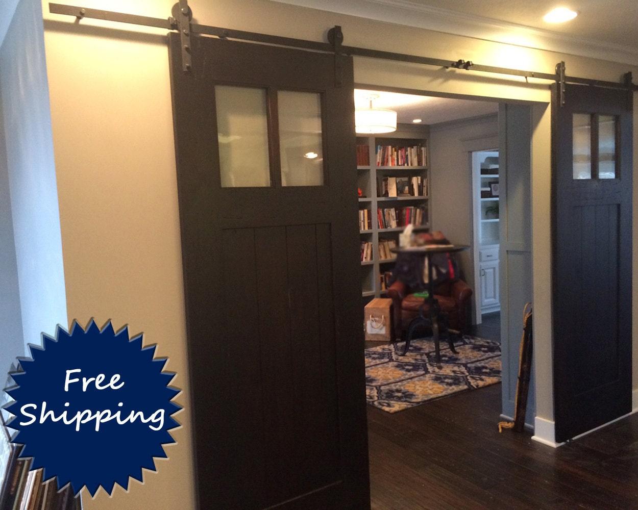 Pair of heritage barn door room dividers by for Barn door room divider