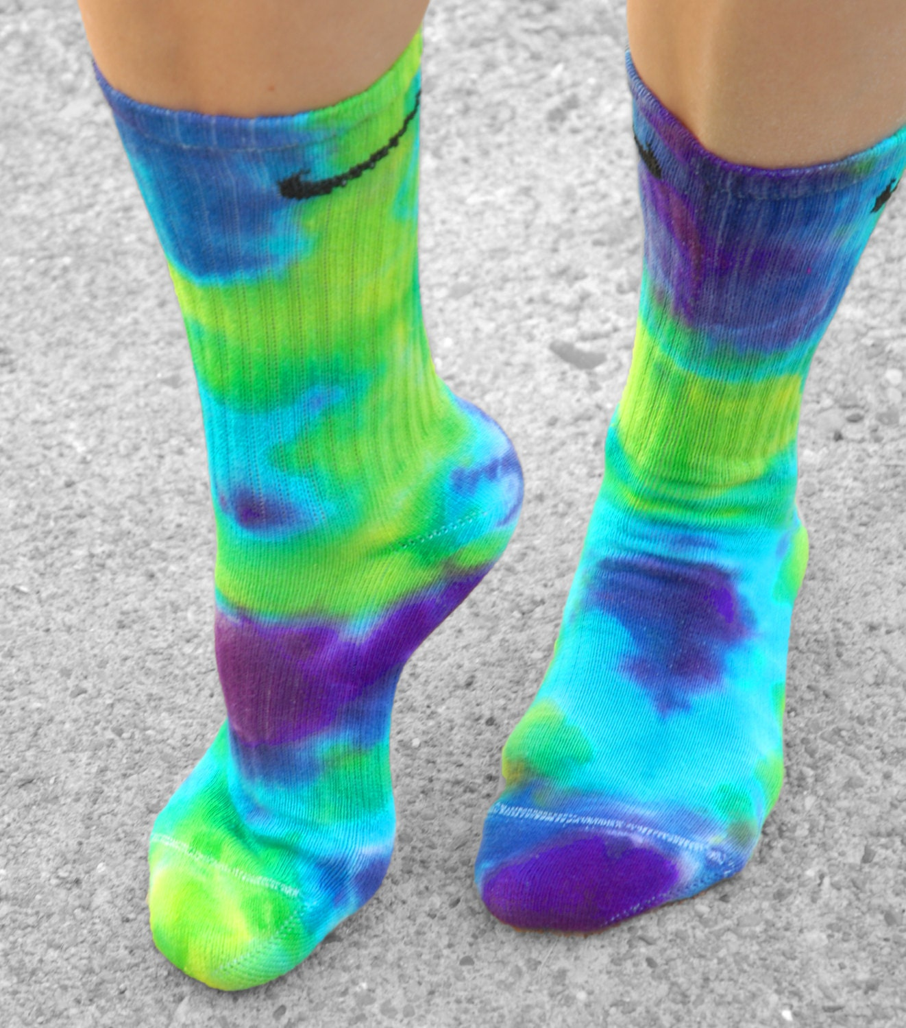 Purple haze tie dye nike socks custom tie dye socks purple for Nike tie dye shirt and shorts