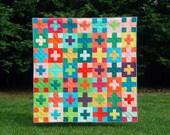 Plus Plus - a Digital pdf Quilt Pattern - Baby, Lap, and Queen Sizes c