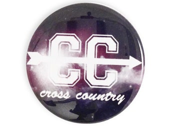 CC Cross Country Pin Button