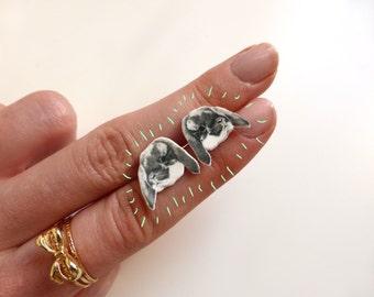 Bunny Rabbit Stud Earrings