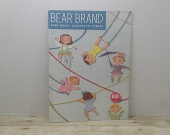 Bear Brand Magazine, Baby Book, Infants to 4 years old, 1961, vintage crochet knit book