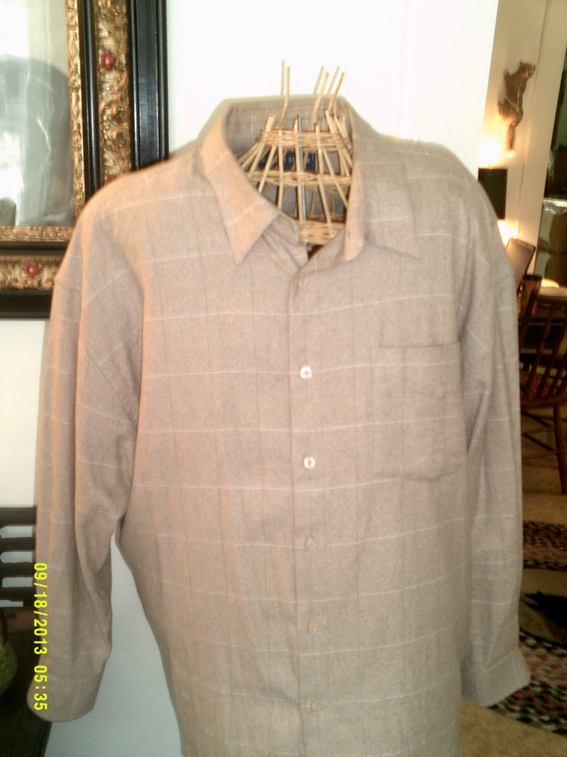 Mens flannel plaid shirt size xl by robert stock mens for Mens xl flannel shirts
