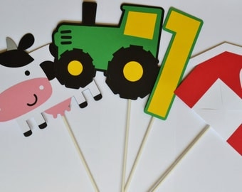 Farm Cake Toppers or Centerpieces