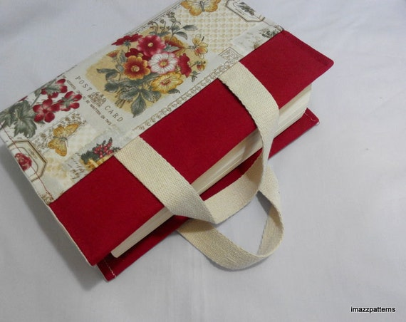 How To Make A Fabric Book Cover With Handles ~ Promo price a book bag fabric cover with handles