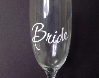 DIY Personalized Vinyl Decals/Stickers,  Wedding Titles or Names, Bride, Maid of Honor