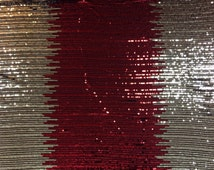 Red and Gold Sequin Fabric