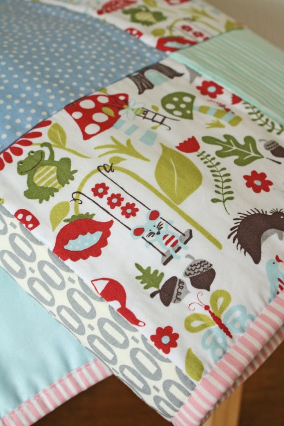 Patchwork Baby Quilt Playmat Cot Crib Travel Size By