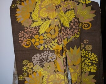 2 curtain lengths - POMPEJA - Borås cotton - Märta Lena Bjerhagen - 1970s - Retro - Sweden -