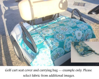 Golf Cart Seat Cover with Carrying Bag