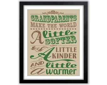 Christmas Gift For Grandparents - Grandma Sign - Art For Grandparents - Mimi Poster - Gift From Grand Kids