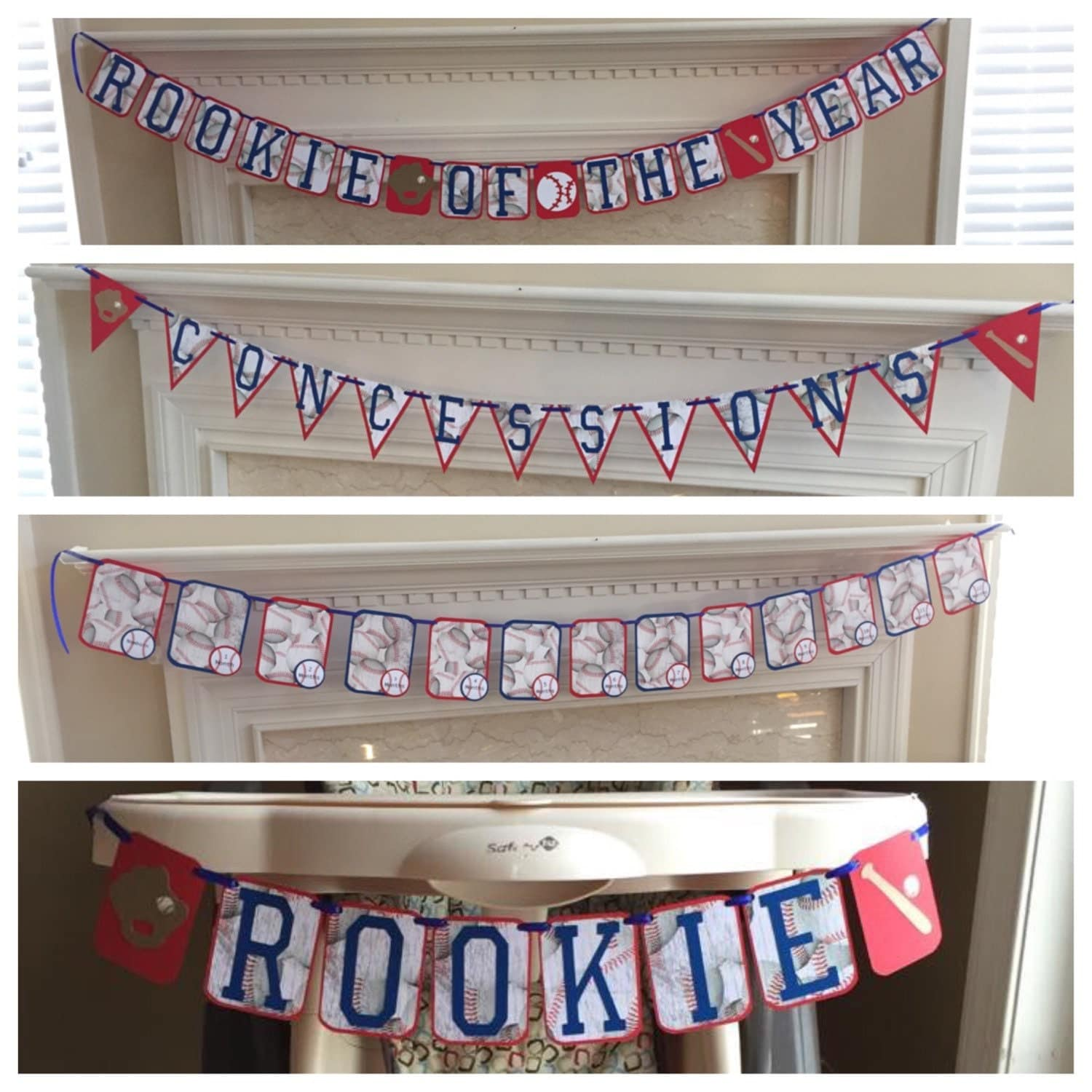 Baseball themed rookie of the year first birthday party pack for 1st birthday decoration packs