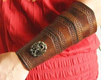 Medieval Armor LARP Dragon Leather Forearm Bracer
