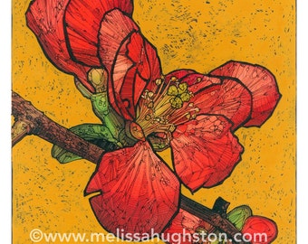 Quince flower artwork - Item #633