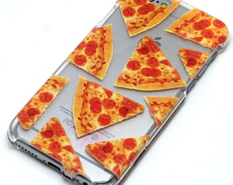 Pizza Slice, Pepperoni Pizza iPhone Case, Transparent, Clear Phone Case, iPhone 6, iphone 5, se, iphone 6 plus, iphone 7, iphone 7 plus