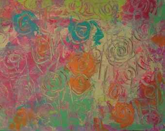 """Abstract Art Print  of Original Acrylic Painting  Size 11""""X15"""""""