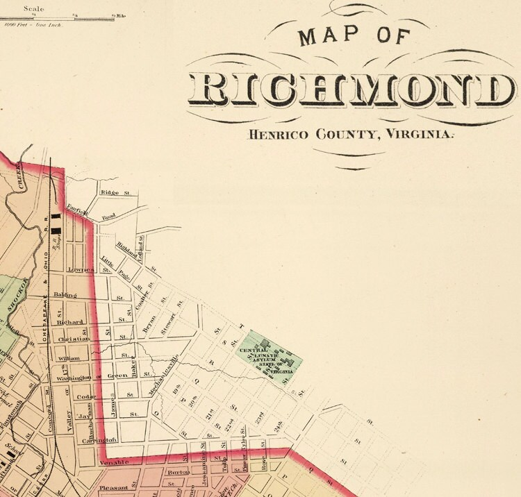 Old Map Of Richmond Virginia 1878 By OldCityPrints On Etsy