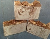 Pumpkin Cheesecake scented cold process handmade soap