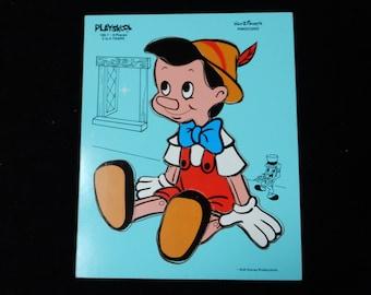 1970s Playskool Pinocchio Puzzle