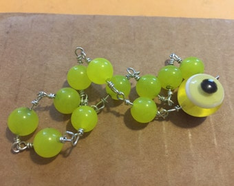 Bright Chartreuse Neon Evil Eye Bracelet Protection