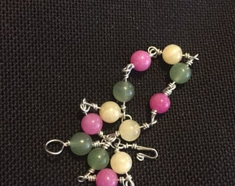 Warm Weather Bracelet Pink Yellow Green