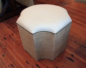Upholstered Cross Ottoman