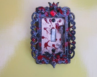 OOAK eclectic ornate decorative gothic/vampire single wall/switchplate