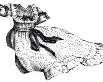 AG1931 - 1894 White Dotted Baby's Frock w/Guimpe Sewing Pattern by Ageless Patterns