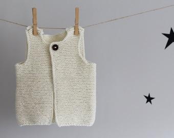 Knit Baby Vest, Baby Waistcoat