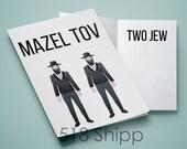 Mazel Tov Two Jew - Humor Funny Bar Bat Mitzvah Card