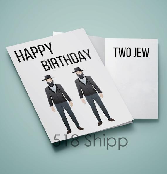 Jewish Wedding Wishes Quotes: Happy Birthday Two Jew Humor Funny Card