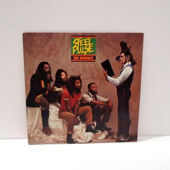 Steel Pulse Vintage Vinyl Record Reggae Music True Democracy