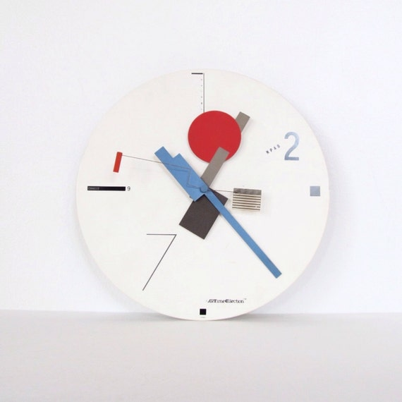Canetti Artime Memphis Wall Clock Post Modern 1980s