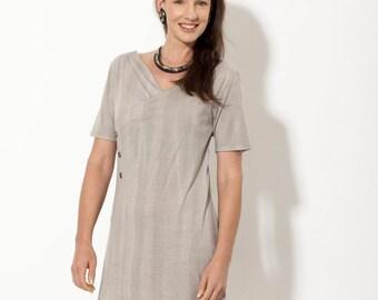 SALE, tunic tops - Womens Tunic dress - Khaki dress - womens tops - wrap dress - wrap top - summer tops - womens clothes
