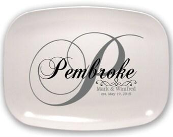 Personalized Platter Monogram Platter Custom Platter Serving Platter Hostess Gift Wedding Gift Housewarming Gift, Personalized Gifts for Mom