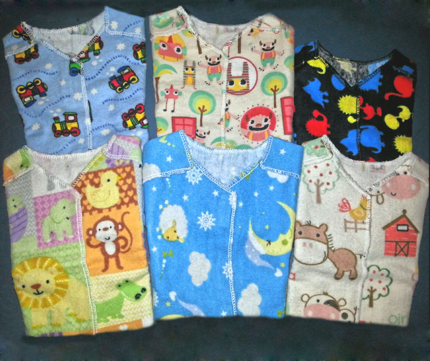 Nicu Hospital Gown Pick A Pattern Amp Size Busy Boys Micro