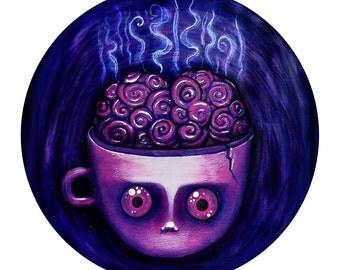 Coffee Brain - Sticker