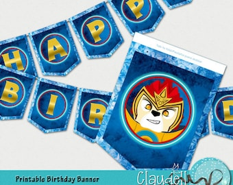 Legends of Heroes Chima Inspired Birthday Party Printable Banner - 300 DPI