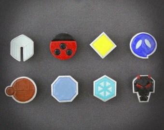 Pokemon - Johto badge set