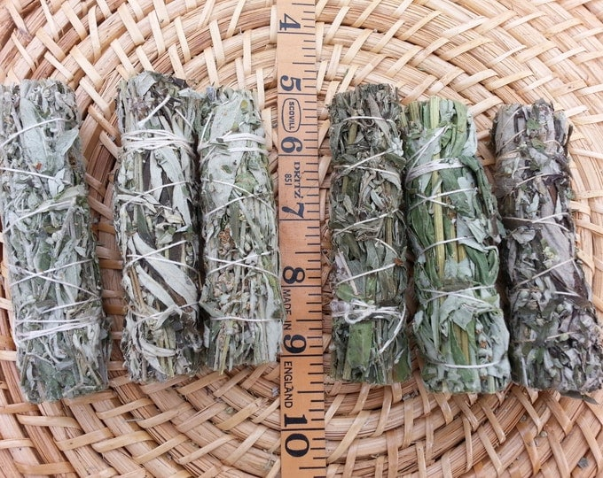 Small Black Sage (Dream Weed, Mugwort, Magical Sage) Bundle approximately 3~4 inches, wild harvested, Reiki infused